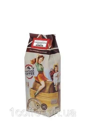 Кофе в зернах Montana Ванильный миндаль 500г