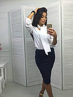 Женская легкая строгая  блуза , 3 цвета