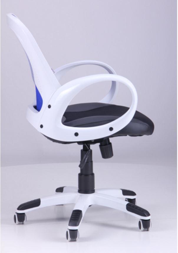 Кресло Матрикс-LB Белый, сиденье Сетка черная/спинка Сетка синяя (фото 3)