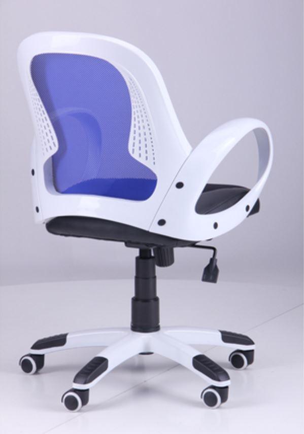 Кресло Матрикс-LB Белый, сиденье Сетка черная/спинка Сетка синяя (фото 5)