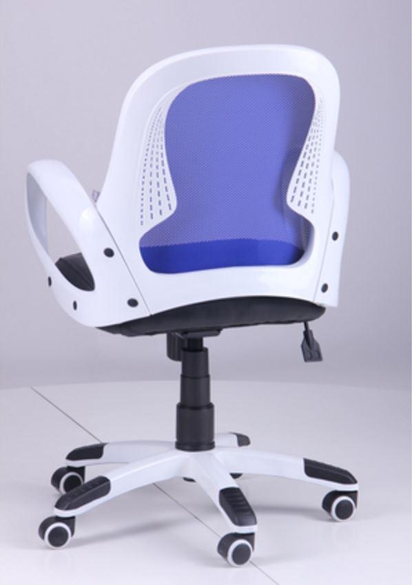 Кресло Матрикс-LB Белый, сиденье Сетка черная/спинка Сетка синяя (фото 6)