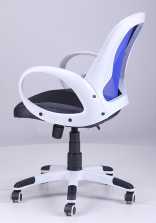 Кресло Матрикс-LB Белый, сиденье Сетка черная/спинка Сетка синяя (фото 7)