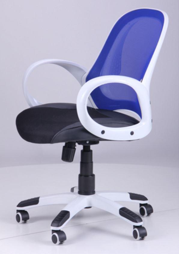 Кресло Матрикс-LB Белый, сиденье Сетка черная/спинка Сетка синяя (фото 8)