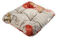 Подушка для стула 40 х 40 х 8 см цветы