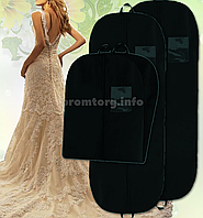 """Чехол для хранения длинной одежды 60х180см из дышащей ткани """"спанбонд"""", две ручки, цвет черный"""