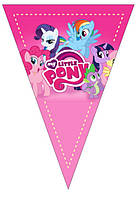 """Прапорці вимпели """"Little Pony"""" . Довжина 2,5 метри"""