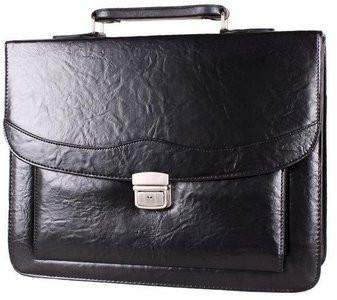 Солидный портфель из кожзаменителя 303048 черный