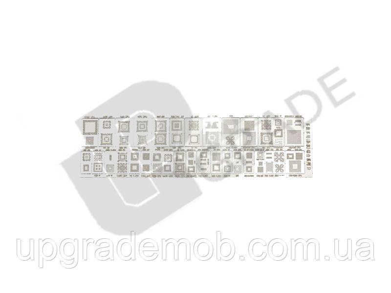Трафарет с рисунком шаг 0,25В - UPgrade-запчасти для мобильных телефонов и планшетов в Днепре