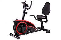 Горизонтальный велотренажер Hop-Sport HS-67R Axum black/red для дома и спортзала
