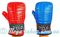 Снарядные перчатки с эластичным манжетом на липучке Velo 4004, 2 цвета: кожа, S/M/L/XL