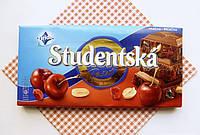 Шоколад. Studentska Рecet молочный с арахисом, желе и вишней