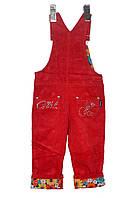 Напівкомбінезон  вельветовий для дівчинки  1-4 роки  Merkiato червоний