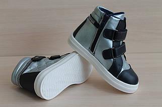 Высокие ботинки на девочку на двух липучках тм JG р. 30, фото 3