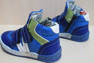 Демисезонные высокие ботинки для мальчика спортивный дизайн тм SUN р. 31, фото 3