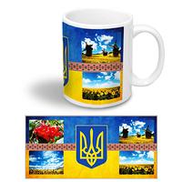 """Керамическая чашка """"Герб України"""""""