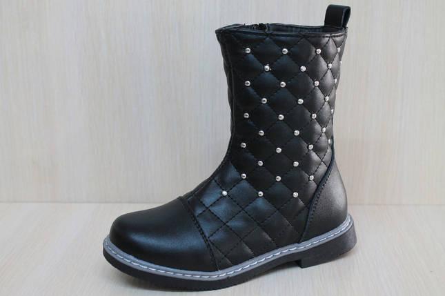Черные полусапожки на девочку, демисезонная обувь тм YTop р.29, фото 2