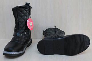 Черные полусапожки на девочку, демисезонная обувь тм YTop р.29, фото 3