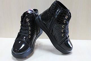 Лаковые ботинки на девочку, демисезонная детская обувь р.31, фото 3