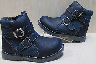 Демисезонные синие ботинки на мальчика тм SUN р. 36, фото 2