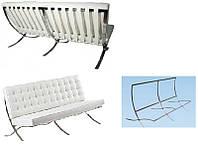 Каркас для двухместного дивана Барселона ремни  белого цвета дизайн Mes van der Rohe