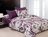 """Комплект постельного белья двуспальный, бязь ГОЛД """"Фиолетовый вензель"""""""