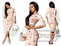 Узкая юбка и блуза с принтом - удобный костюм