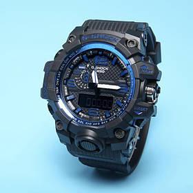 Спортивные наручные часы Casio G-Shock GWG-1000 Black Blue Касио реплика