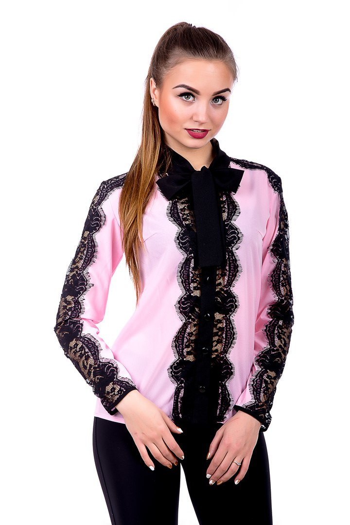 Блуза с гипюром 436 (3 расцветки)