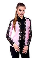 Блуза с гипюром 436 (3 расцветки), фото 1