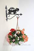 Настенная подставка для подвесного цветка Черепаха Ч-2
