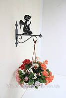 Настенная подставка для подвесного цветка Ангел А-2