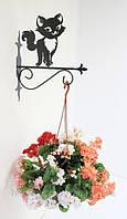 Настенная подставка для подвесного цветка Кошка К-1