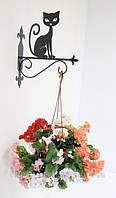 Настенная подставка для подвесного цветка Кошка К-5