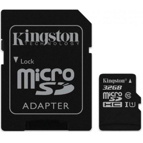Карта памяти Kingston microSDHC 32GB Class 10 UHS-I 60мес