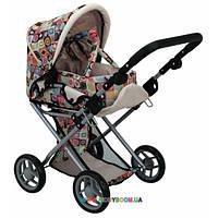 Прогулочная коляска для куклы 2 в 1 с люлькой «Mary» цветная Todsy 9346C