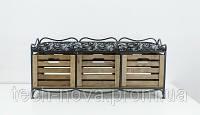 Диван-этажерка прованс (сидушка, 3 ящика)