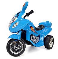 Детский мотоцикл на аккумуляторе (голубой)