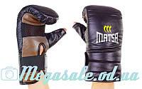 Снарядные перчатки с открытым большим пальцем Matsa 6011: кожа, L/XL