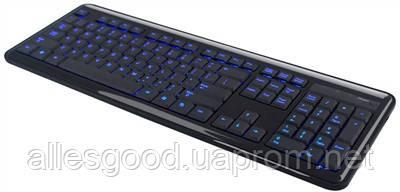Клавиатура с подсветкой букв HQ-Tech KB-307F, USB (синяя подсветка) - Alles Good в Днепре