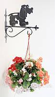 Настенная подставка для цветов Собака С-2
