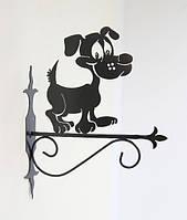 Настенная подставка для цветов Собака С-3