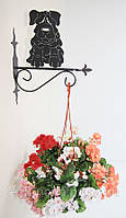 Настенная подставка для цветка Собака С-11