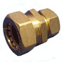Муфта с уменьшением труба-труба 20*15 мм соединительная для трубы гофрированной из нержавеющей стали