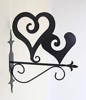 Настенная подставка для цветка Сердце СЕ-4