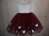 Праздничное платье для девочки 4-7 лет № 19