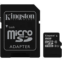 Карта памяти Kingston microSDHC 8GB Class 10 UHS-I U1 R45/W10MB/s 60мес