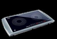 Плита индукционная настольная 2-х конфорочная SENCOR SCP 5303GY (1600 Вт + 1300 Вт)