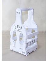 Мини-бар ящик бокал 4 (на 4 бутылки) Белый