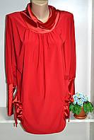 Женская туника\блуза ткань масло отделка атлас, фото 1
