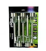 Фонари садовые на солнечных батареях Expert VK014P LED-5 (5 шт)